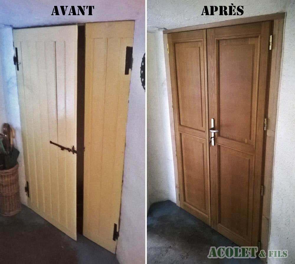 Ets Acolet & Fils - Rénovation porte